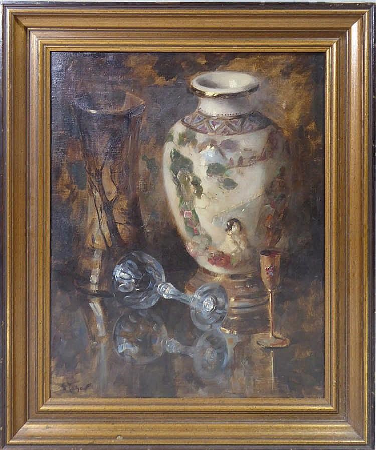 andr tahon 1907 1985 nature morte au vase de chine huile. Black Bedroom Furniture Sets. Home Design Ideas