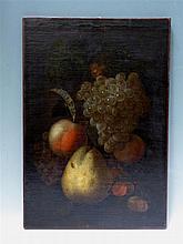 Justus VAN HUYSUM  (1659-1716) attribué à: Nature morte aux grappes de rais