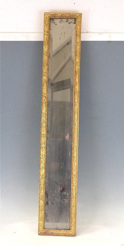 Miroir d 39 entre deux dans un encadrement en bois et stuc dor - Encadrement bois pour miroir ...