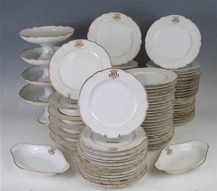 Paris partie de service de table en porcelaine b - Porcelaine de table ...