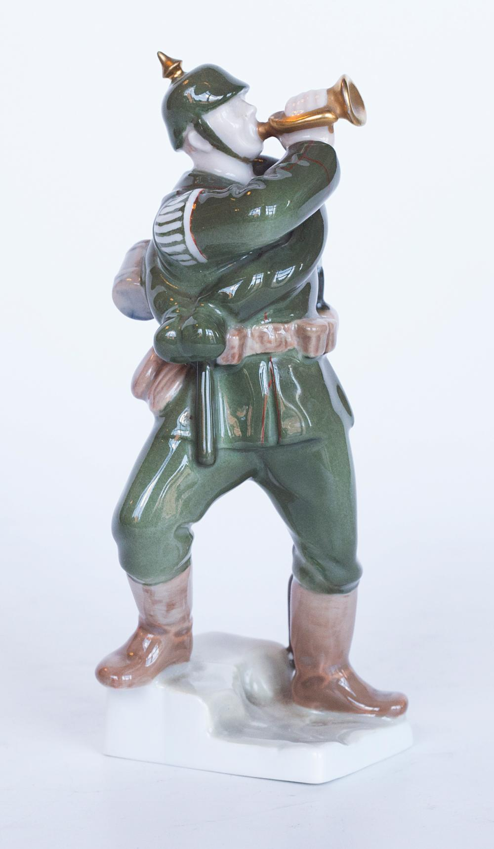 Rare Rosenthal hand painted porcelain soldier figurine by Albert Caasmann