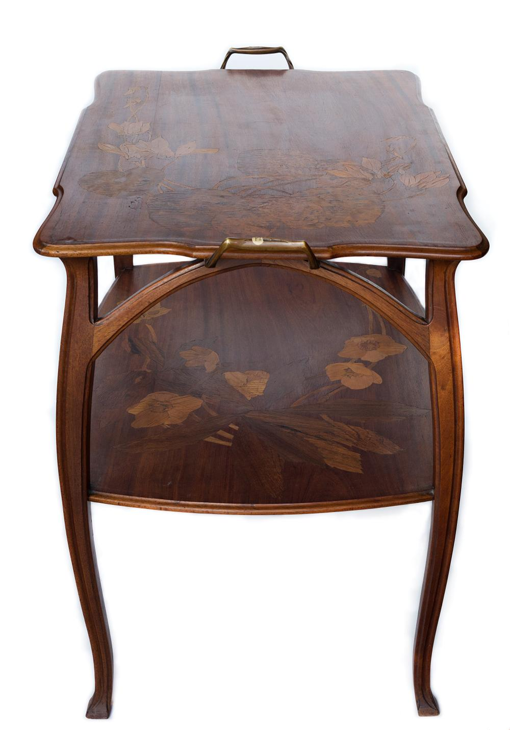 Stunning Art Nuevu Ecole De Nancy signed C. Gauthier Nancy gorgeous inlaid table