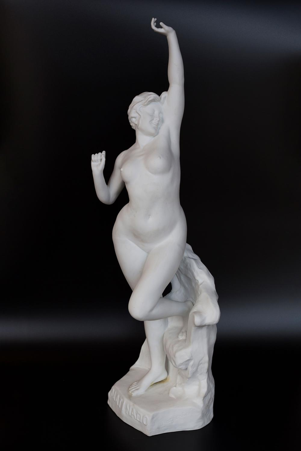 Exeptional French antique Bisque porcelain sculpture of a nude woman made by the national manufacture of Sevres