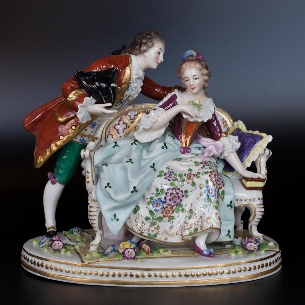 Exquisite Sitzendorf hand painted porcelain figurine