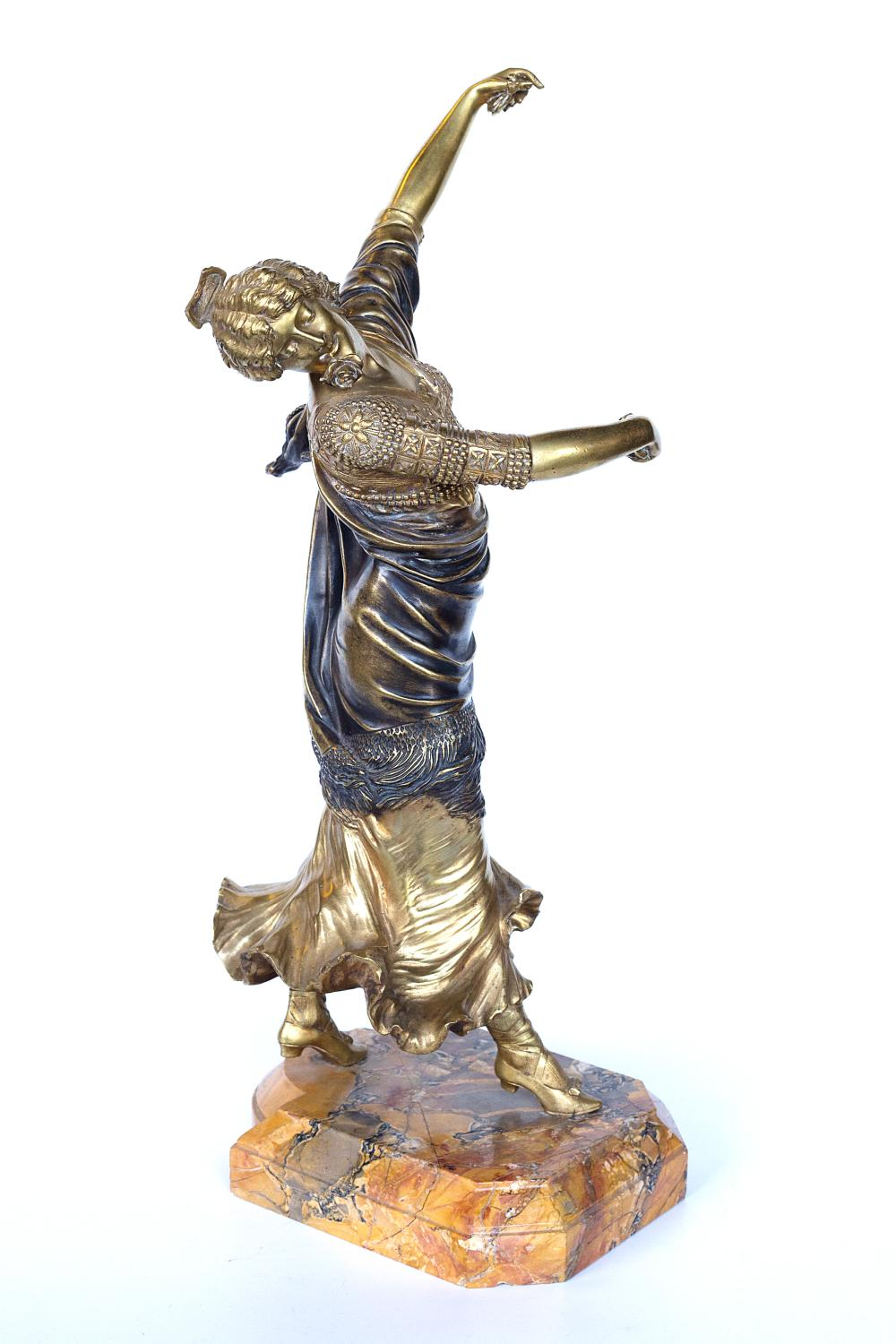 "Authentic Paul Philippe bronze sculpture ""Spanish dancer"""