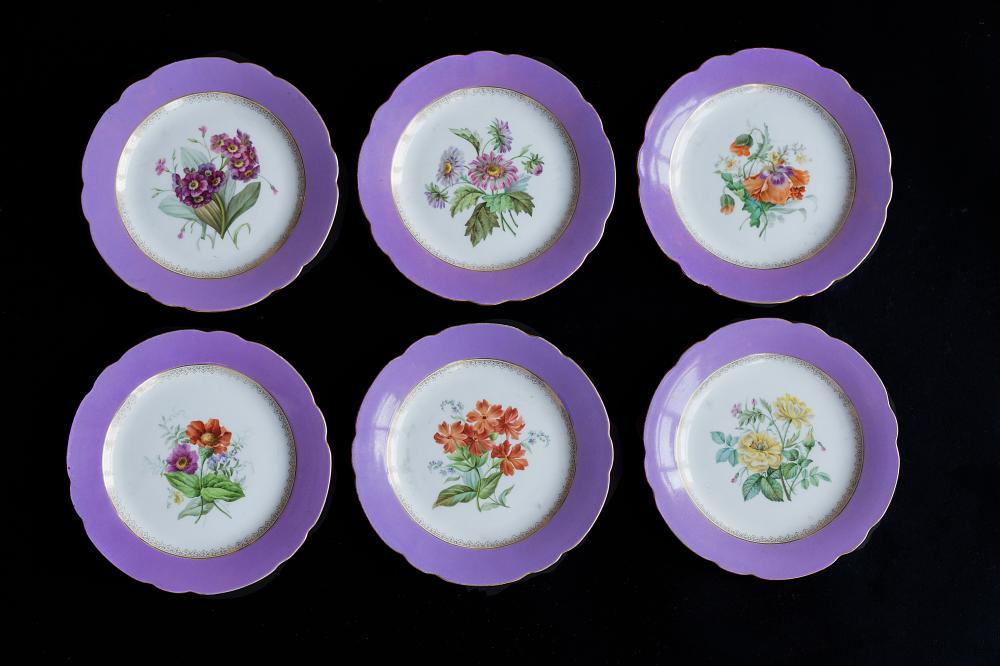 Set of 6 Plates, Imperial porcelain factory, 1855-1881 (Alexander II