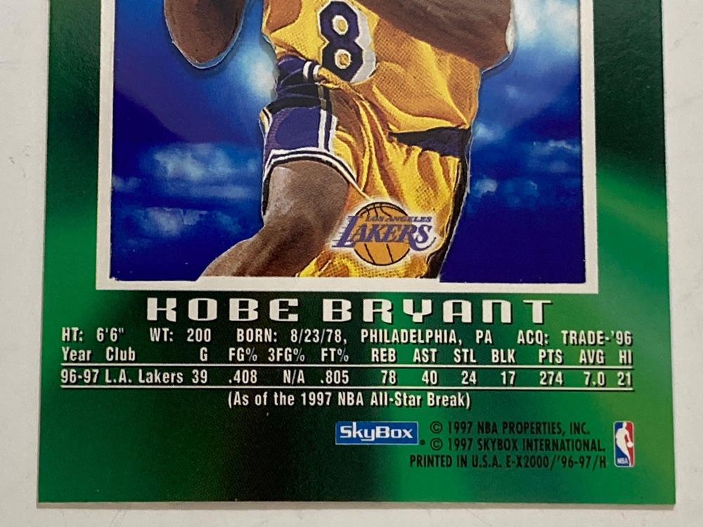 1996 Skybox E-X2000 #30 Kobe Bryant Rookie
