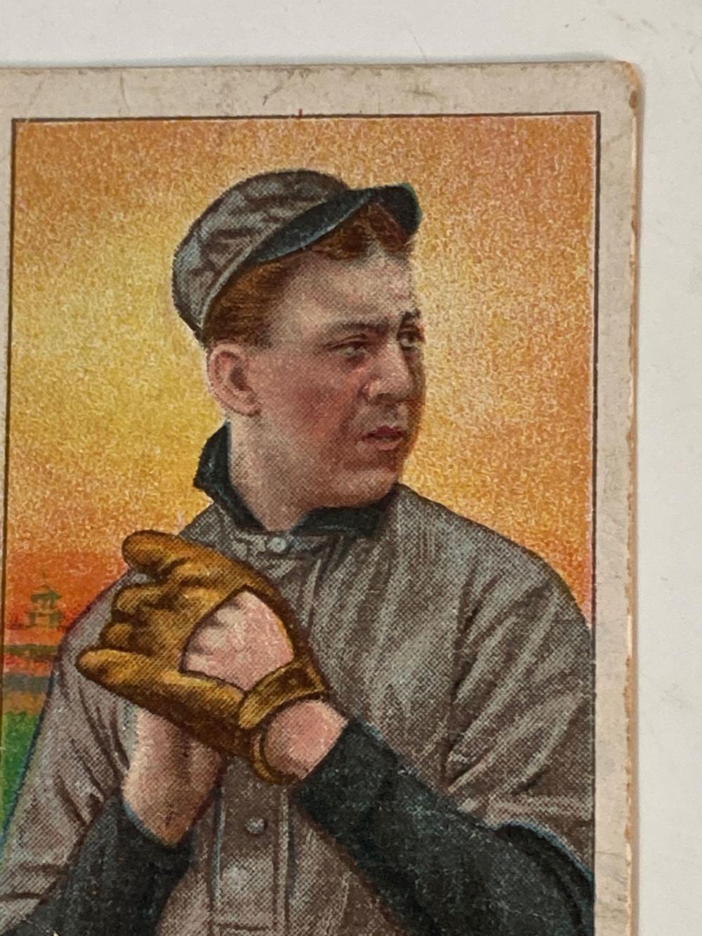 1909-1911 T206 Addie Joss Hands on Chest Cleveland Naps