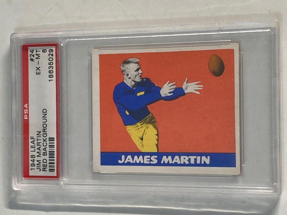 1948 Leaf #24 Jim Martin PSA 6 Red Background