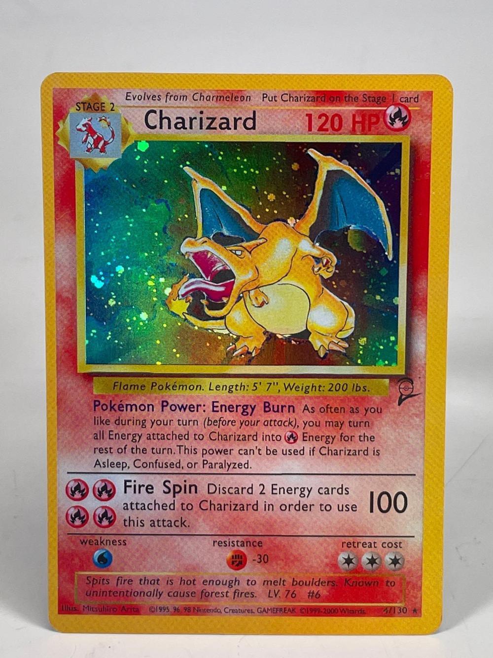 1999-2000 Pokemon Charizard Holo Foil #4/130 WOTC