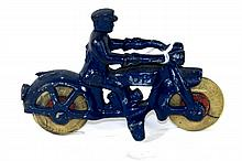HUBLEY CAST IRON MOTORCYCLE COP