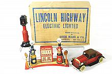 MARX LINCOLN HIGHWAY SET W/BOX