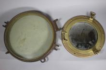 Vintage Port Hole Windows, One Converted to Mirror