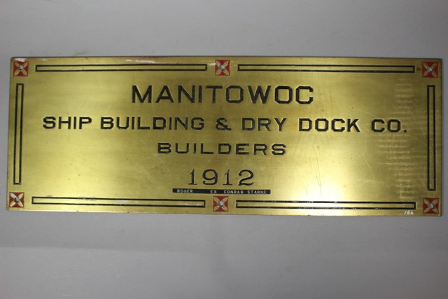 ca 1930's Manitowoc Ship & Dock Building Co. Plate