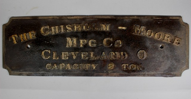 The Chisholm-Moore Mfg. Co. Builder's Plate