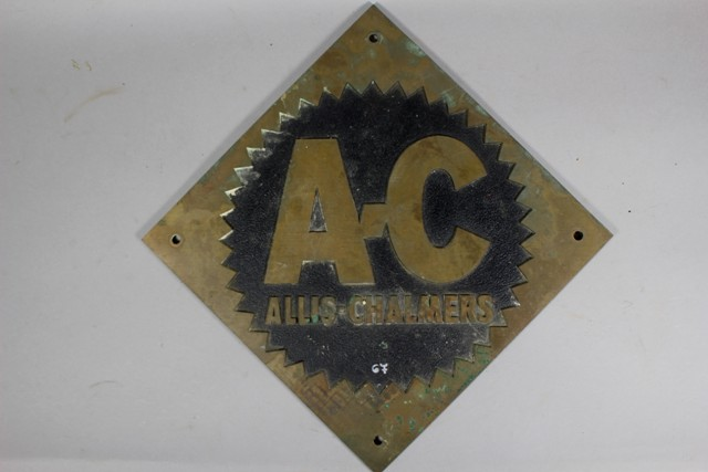 Vintage Allis-Chalmers Builder's Plate