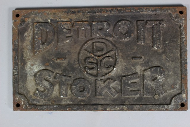 ca 1900 Detroit Stoker Co. Builder's Plate