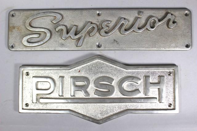 20th Century Pirsch and Superior Builder's Plates