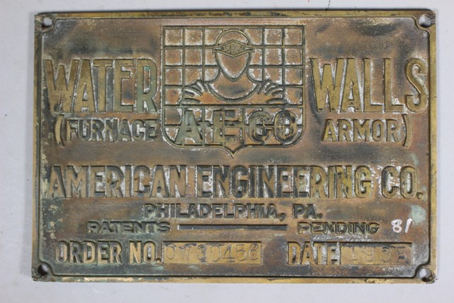 1935 American Engineering Co. Builder's Plate