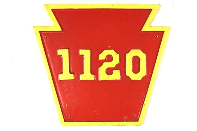 Pennsylvania Railroad Sign 1120 Authentic Replica