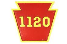 Pennsylvania Railroad Sign 1120 Authentic Replica