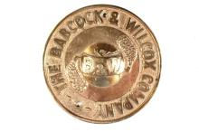 The Babcock & Wilcox Co. Aluminum Bronze Plaque