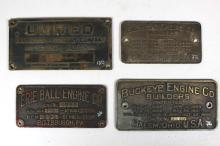 Buckeye, Erie Ball, and United Co. Builder's Plates