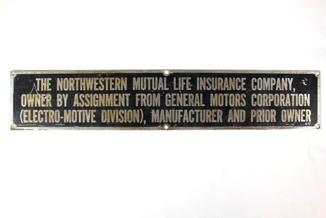 Northwestern Mutual Life Ins. And GM Co. Wall Plaque
