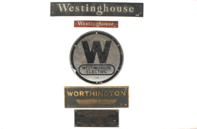 Westinghouse and Worthington Builder's Plates (5)
