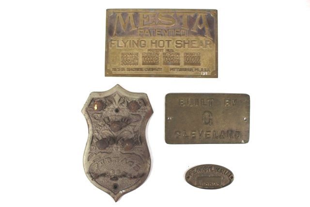 Four 20th Century Industrial Builder's Plates