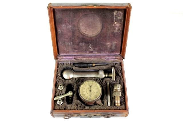 Kahlenberg Bros. Co. Steampunk Pressure Gauge in Case