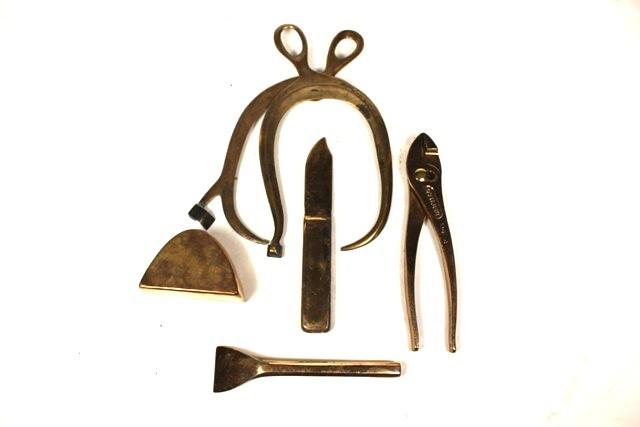 Five Aluminum Bronze Tools