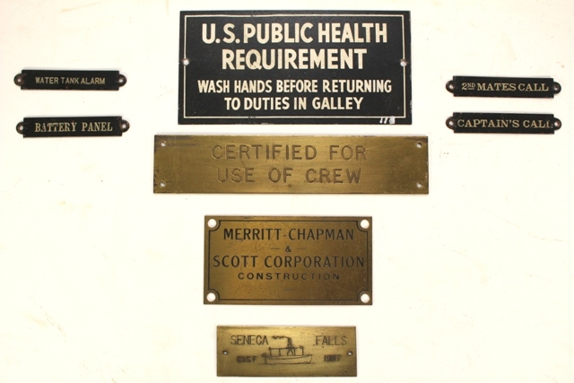 Collection of 18 Tugboat Plaques and Builder's Plates