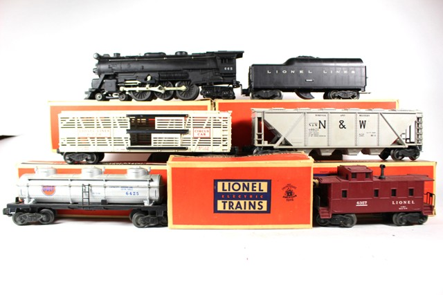 Lionel No. 665 Loco, 2046, 6425, 6446, 6376 and 6357