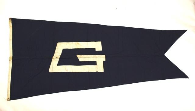 Vintage Wool Nautical Ship's Flag