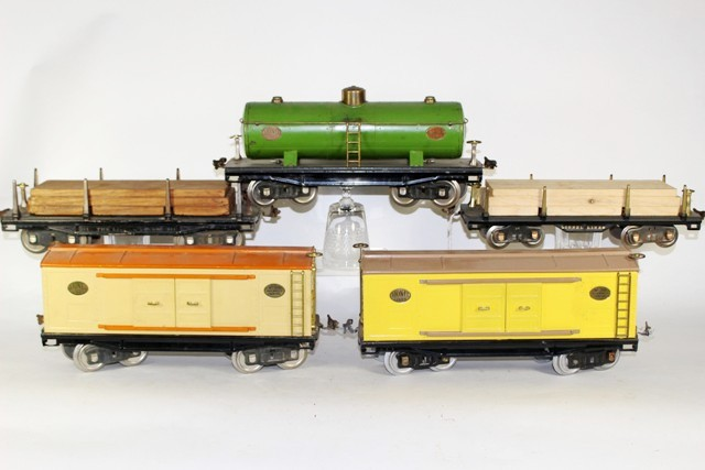Lionel Standard Gauge Freight Cars and One O-Gauge