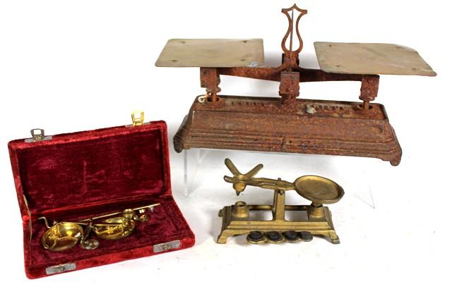 Three Vintage Miniature Balance Scales