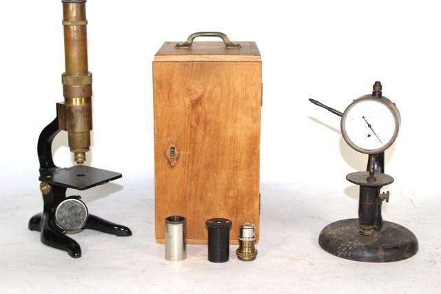Schutz A.-G. Microscope and Randall & Stickney Gauge