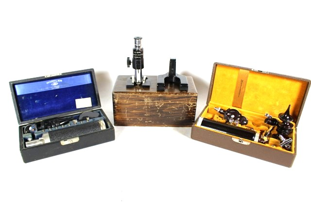 Two Ophthalmoscopes and Small Microscope