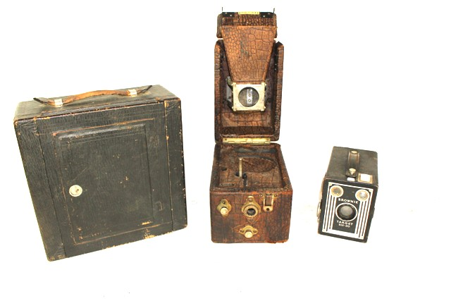 Collection of Three Antique Cameras
