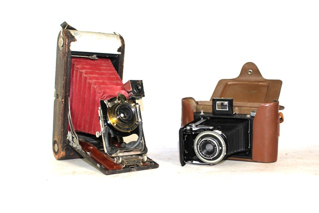 Two Vintage Kodak Folding Cameras