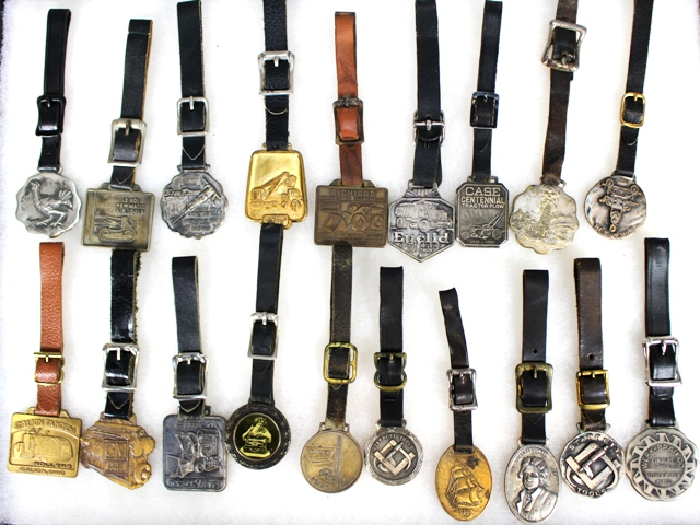Collection of 19 Advertising Related Watch Fobs