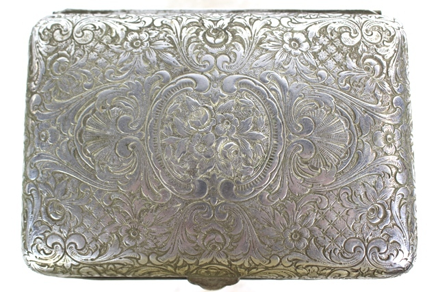 19th Century English Silverplate Tea Caddy
