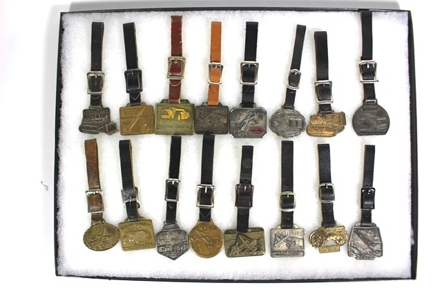 Collection of 16 Industrial Equipment Watch Fobs