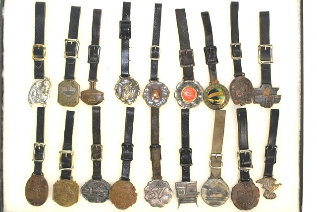 Collection of 18 Advertising Related Watch Fobs