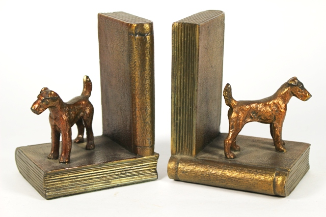 ca 1920's Ronson Scottie Dog Bookends