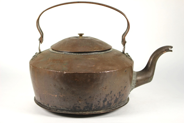 19th Century Goose Neck Copper Kettle