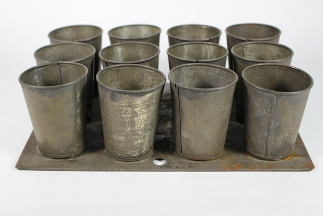 ca. 1900 Tin Cup Mold Set