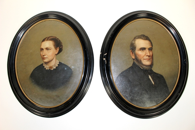 Pair of 19th Century Portraits of the Mather Family