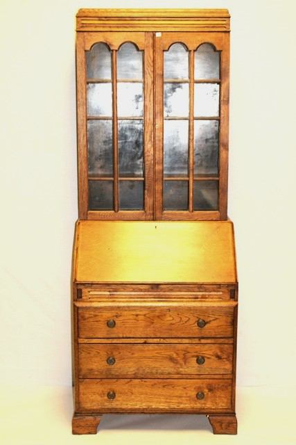 Early 20th Century Quartersawn Oak Secretary